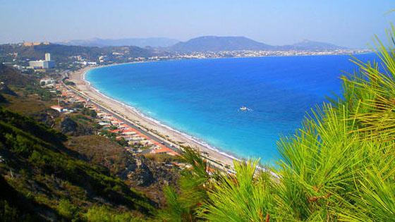 Пляжи на островах греции