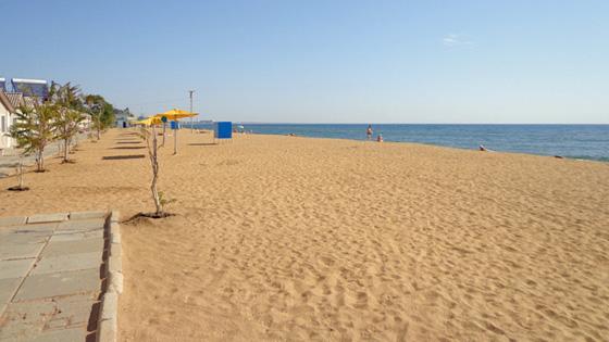 Феодосия Золотой пляж Береговое