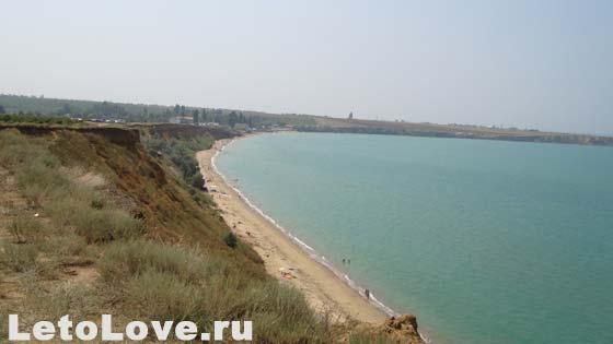 Поселок Песчаное - дикий пляж