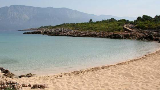 Пляж Клеопатры на острове Седир