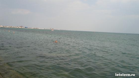 Евпатория - пляж на набережной