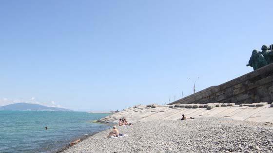 Пляж малой земли