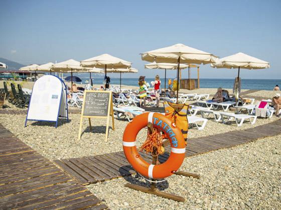 Пляж Курортного городка