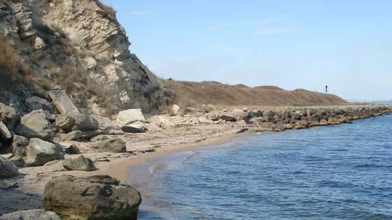 Пляж у крепости