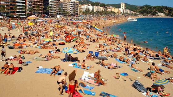 Центральный пляж Ллорет де Мар