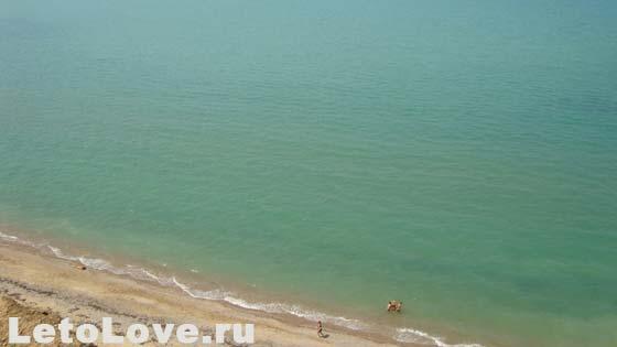 Дикий пляж - вид сверху