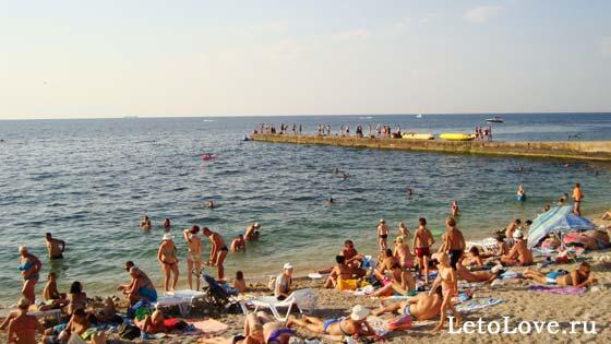 Пляж в Парке Победы